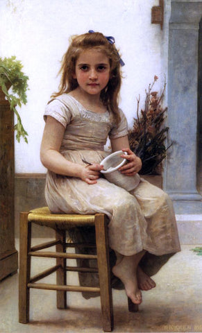 William Adolphe Bouguereau The Snack (also known as Le Gouter) - Hand Painted Oil Painting