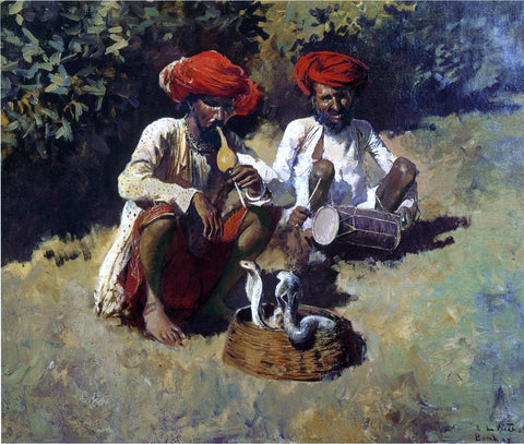 Edwin Lord Weeks The Snake Charmers, Bombay - Hand Painted Oil Painting