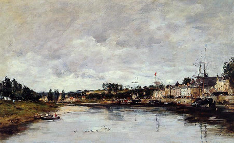 Eugene-Louis Boudin The Somme at Saint-Valery-sur-Somme - Hand Painted Oil Painting