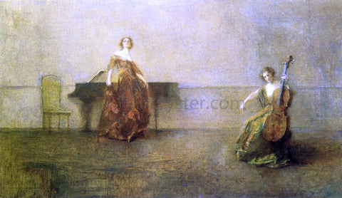 Thomas Wilmer Dewing The Song and the Cello - Hand Painted Oil Painting