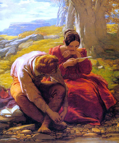 William Mulready The Sonnet - Hand Painted Oil Painting