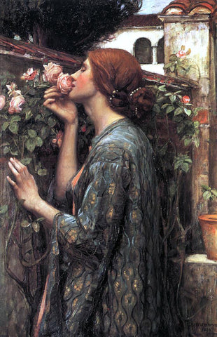John William Waterhouse The Soul of the Rose - Hand Painted Oil Painting