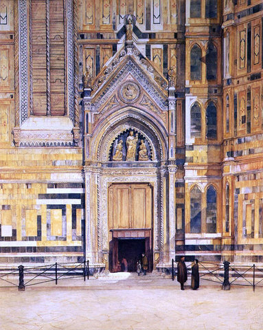 Henry Roderick Newman The South Door of the Duomo - Hand Painted Oil Painting