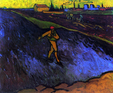 Vincent Van Gogh The Sower: Outskirts of Arles in the Background - Hand Painted Oil Painting