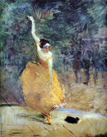 Henri De Toulouse-Lautrec The Spanish Dancer - Hand Painted Oil Painting