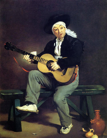 Edouard Manet The Spanish Singer (also known as Guitarrero) - Hand Painted Oil Painting