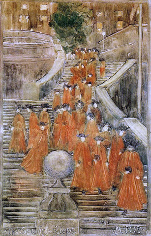 Maurice Prendergast The Spanish Steps - Hand Painted Oil Painting