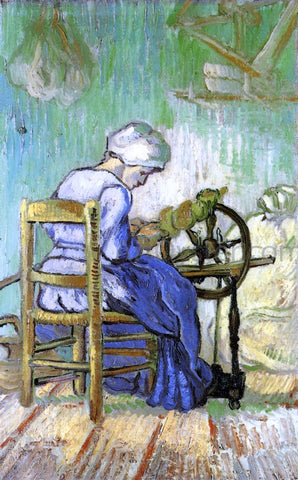 Vincent Van Gogh The Spinner (after Millet) - Hand Painted Oil Painting