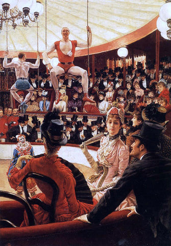 James Tissot The Sporting Ladies (also known as The Amateur Circus) - Hand Painted Oil Painting