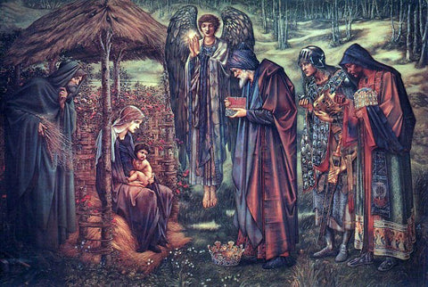Sir Edward Burne-Jones The Star of Bethlehem - Hand Painted Oil Painting