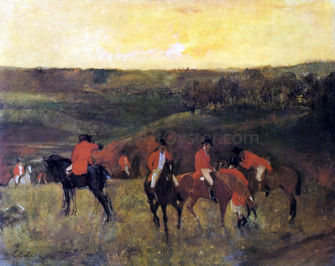 Edgar Degas The Start of the Hunt - Hand Painted Oil Painting