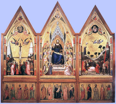 Giotto The Stefaneschi Triptych - Hand Painted Oil Painting