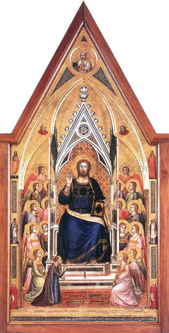 Giotto Di Bondone The Stefaneschi Triptych: Christ Enthroned - Hand Painted Oil Painting