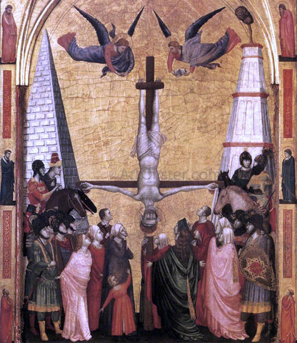 Giotto Di Bondone The Stefaneschi Triptych: Martyrdom of Peter - Hand Painted Oil Painting