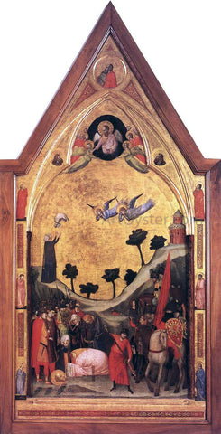 Giotto Di Bondone The Stefaneschi Triptych: Martyrdom of St Paul - Hand Painted Oil Painting