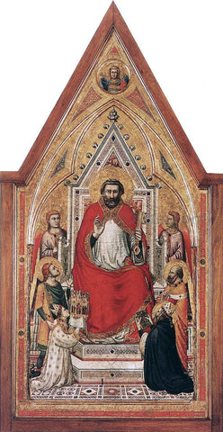 Giotto Di Bondone The Stefaneschi Triptych: St Peter Enthroned - Hand Painted Oil Painting