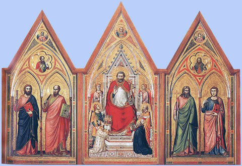 Giotto Di Bondone The Stefaneschi Triptych (verso) - Hand Painted Oil Painting