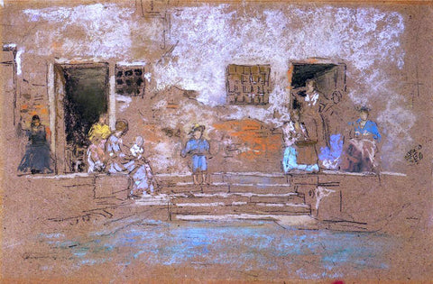 James McNeill Whistler The Steps - Hand Painted Oil Painting