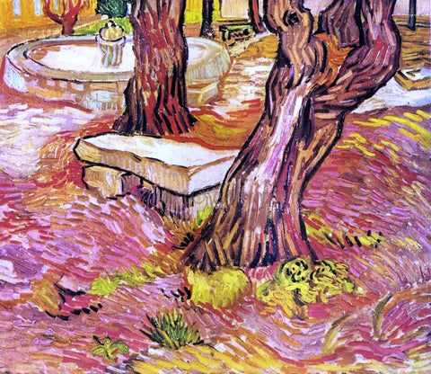 Vincent Van Gogh The Stone Bench in the Garden at Saint-Paul Hospital - Hand Painted Oil Painting