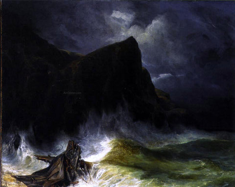 Eugene Isabey The Storm (also known as Shipwreck) - Hand Painted Oil Painting