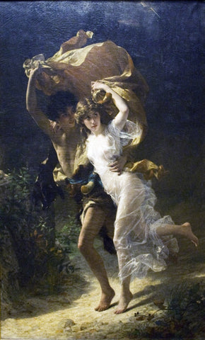 Pierre Auguste Cot The Storm - Hand Painted Oil Painting