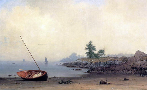 Martin Johnson Heade The Stranded Boat - Hand Painted Oil Painting