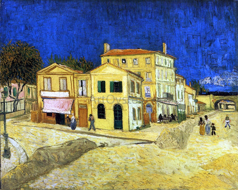 Vincent Van Gogh The Street, the Yellow House - Hand Painted Oil Painting