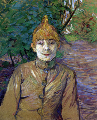 Henri De Toulouse-Lautrec The Streetwalker (also known as Casque d'Or) - Hand Painted Oil Painting