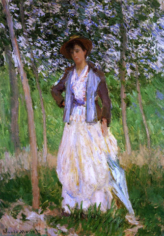 Claude Oscar Monet The Stroller (Suzanne Hoschede) (also known as Taking a Walk) - Hand Painted Oil Painting