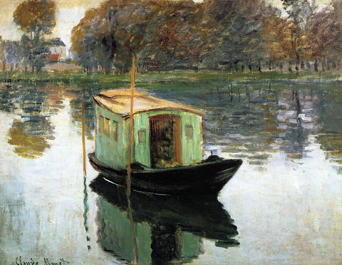 Claude Oscar Monet Studio Boat - Hand Painted Oil Painting