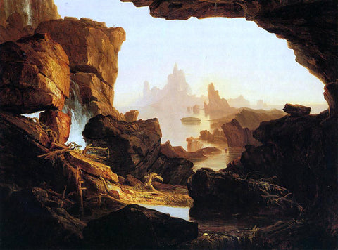 Thomas Cole The Subsiding Waters of the Deluge - Hand Painted Oil Painting