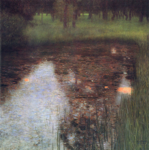 Gustav Klimt The Swamp - Hand Painted Oil Painting