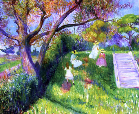 William James Glackens The Swing - Hand Painted Oil Painting