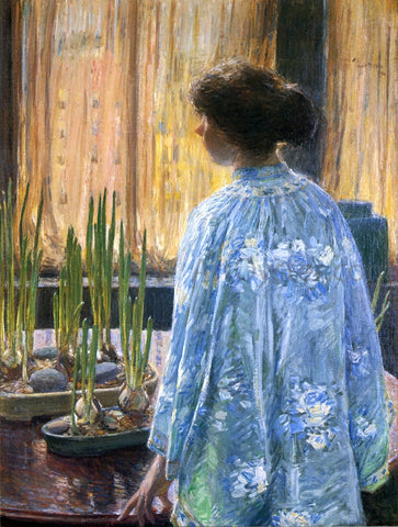 Frederick Childe Hassam The Table Garden - Hand Painted Oil Painting