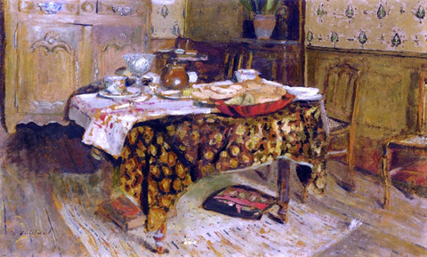 Edouard Vuillard The Table Setting, rue Truffaut - Hand Painted Oil Painting
