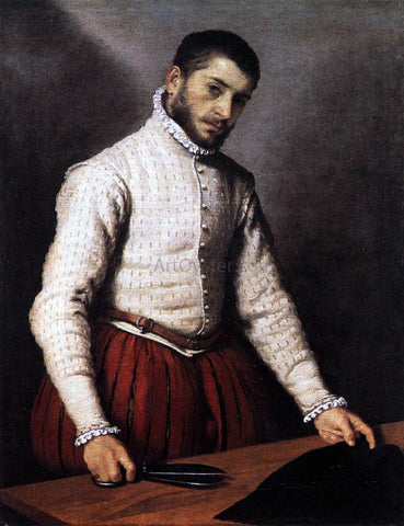 Giovanni Battista Moroni The Tailor - Hand Painted Oil Painting