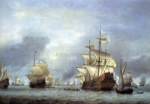The Younger Willem Van de  Velde The Taking of the English Flagship the Royal Prince - Hand Painted Oil Painting
