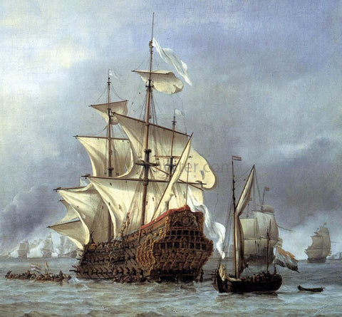 The Younger Willem Van de  Velde The Taking of the English Flagship the Royal Prince (detail) - Hand Painted Oil Painting