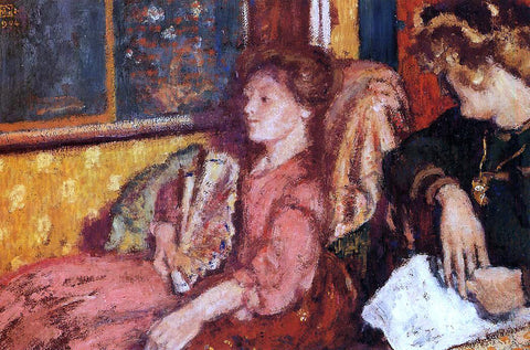 Georges Lemmen The Talk (also known as Two Women in an Interior) - Hand Painted Oil Painting