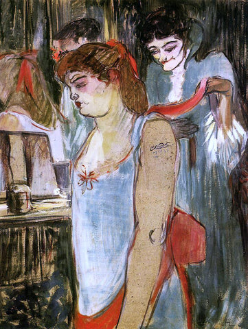 Henri De Toulouse-Lautrec The Tatooed Woman - Hand Painted Oil Painting
