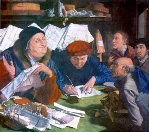 Marinus Van Reymerswaele The Tax Collector - Hand Painted Oil Painting
