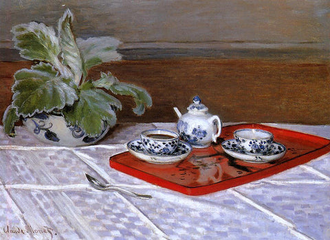 Claude Oscar Monet The Tea Set - Hand Painted Oil Painting