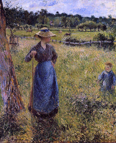 Camille Pissarro The Tedder - Hand Painted Oil Painting