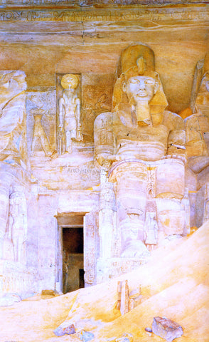 Henry Roderick Newman The Temple Door at Abu Simbel - Hand Painted Oil Painting