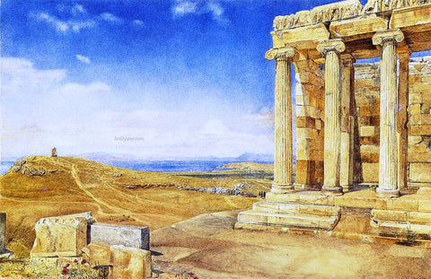 Henry Roderick Newman The Temple of Athena Nike on the Acropolis - Hand Painted Oil Painting