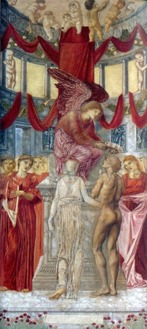 Sir Edward Burne-Jones The Temple of Love - Hand Painted Oil Painting