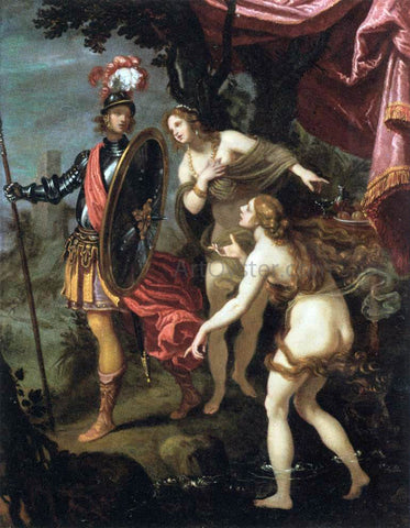 Giovanni Bilivert The Temptation of Charles and Ubalde - Hand Painted Oil Painting