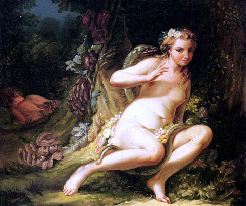 Jean-Baptiste-Marie Pierre The Temptation of Eve - Hand Painted Oil Painting