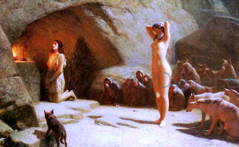 John Charles Dollman The Temptation of Saint Anthony - Hand Painted Oil Painting