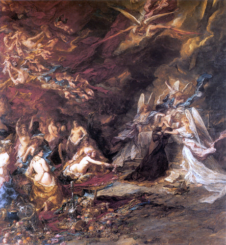 Eugene Isabey The Temptation of St. Anthony - Hand Painted Oil Painting
